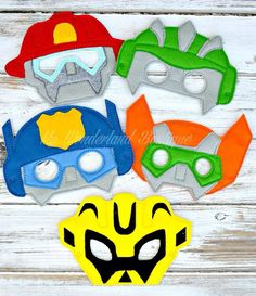 Transformers Rescue bots mask by MyWonderlandBoutique on Etsy