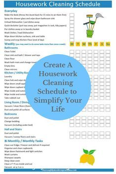 Do you want to get organised and simplify your life, then why not check out this awesome Cleaning Schedule Checklist and Planner, including free templates Housework Cleaning Schedule I Checklist I Organise Your Home I Save Time I Free Printable I Weekly