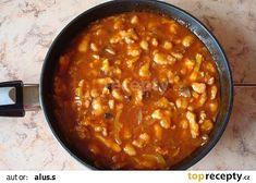 Kuřecí pikantní směs recept - TopRecepty.cz Chana Masala, Chili, Food And Drink, Soup, Vegetables, Ethnic Recipes, Meat, Chile, Vegetable Recipes