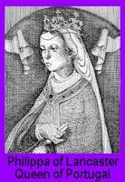 Raínha de Portugal - Dinastia de Aviz. Incitou a fidelidade de Portugal ao papa, acompanhando e interessando-se igualmente pela preparação dos planos para a conquista de Ceuta. Morreu de peste em Odivelas, nas vésperas da partida para Ceuta, não sem antes entregar a cada um dos infantes, D. Duarte, D. Pedro e D. Fernando, uma espada, com a qual viriam a ser armados cavaleiros por seu pai, D. João I. Foi sepultada em Odivelas, e trasladada para o mosteiro da Batalha, para a Capela do…