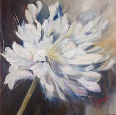 Flower, olio su tela 50x50