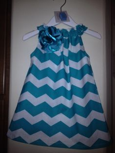 Girls Teal Chevron Dress Size 2T by BBELLECOUTURE on Etsy, $38.95