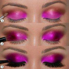 Pretty fuschia eye shadow