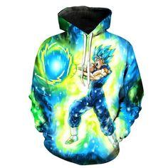 Anime Hoodies Dragon Ball Z Pocket Hooded Sweatshirts Kid Goku 3D Hoodies  Pullovers Men Women Long 15f826594