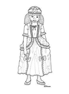 Karen`s Paper Dolls: Princesses Dressed to Print and Colour. Prinsesser klædt på til at printe og farvelægge.