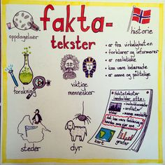 Faktatekst Cooperative Learning, Kids Learning, Teaching Genre, Classroom Walls, Dramatic Play, Too Cool For School, Teaching English, Norway, Literacy
