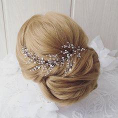 Cabello largo de la vid, vid de la novia, cristales nupcial boda, diadema, primavera peluca novia pelo vid, boda cabello-vid, vid perlas pelo 48