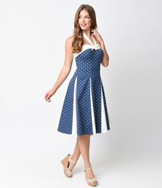 Kelly says it all, doesn't she darlings? A comely charmer, Kelly is a vintage dress style inspired by the nautical nuanc...Price - $118.00-tDLgud78