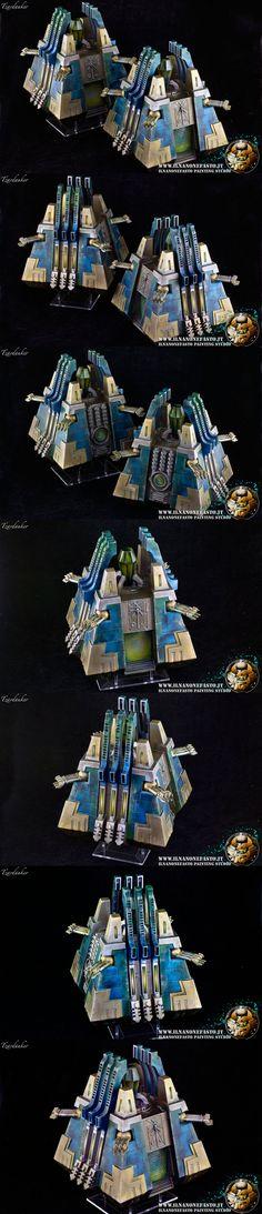 Necron Necrontyr Monolith painted by ILNANONEFASTO