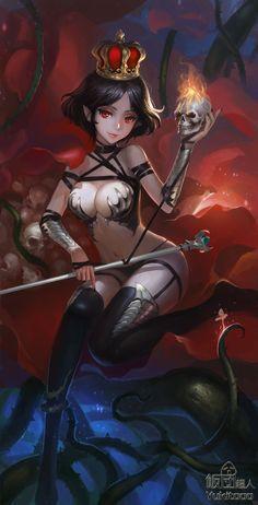 ArtStation - 魔骷少女, Weikang He