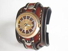leon / Kožený remienok na starožitné hodinky Glashutte
