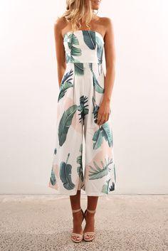 Polynesian Jumpsuit White Floral | Women's | Jean Jail | Clothes Online | Shoes | Womens Fashion | Mens Fashion