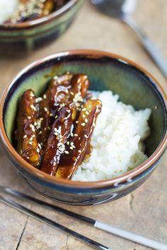 """Un """"Flo"""" de bonnes choses » Aubergines caramélisées au sésame / Caramelized eggplant with sesame"""