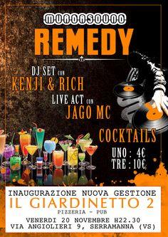 """Remedy"" (Live Event @Il Giardinetto 2) Flyer. Artwork by Kenji"