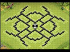 Clash of Clans Town Hall 8 (TH8) Air Sweeper Farming Base Defense Layout Design by Calyptic Gaming - YouTube