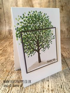 Sheltering Tree stamp set, Stampin' Up! Create this gorgeous Garden Green tree. www.craftyhippy.co.uk