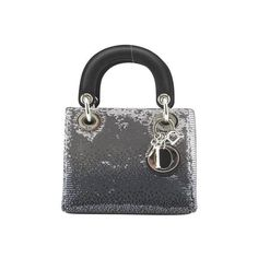 Pre-owned Christian Dior Lady Dior Silver ($2,400) ❤ liked on Polyvore featuring bags, handbags, christian dior handbags, satchel purses, satchel handbags, christian dior purses and metallic silver handbags