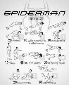 Spider-Man Workout.