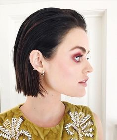 Lucy Hale's side profile