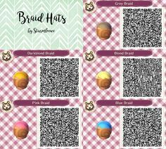 Image Result For Animal Crossing New Leaf Hair Qr Codes Animal Crossing Hair Animal Crossing Animal Crossing 3ds