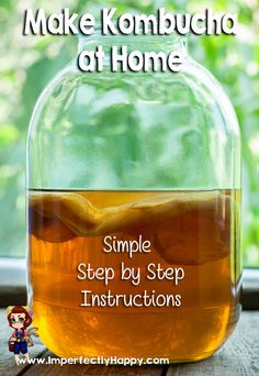 Make kombucha at home with these simple step by step instructions.