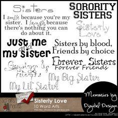 Sisterly Love Word Art - PU/S4H/S4O