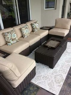allen roth Blaney Woven Patio Sectional Chair Patio Pool