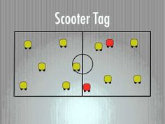 P.E. Games - Scooter Tag - YouTube