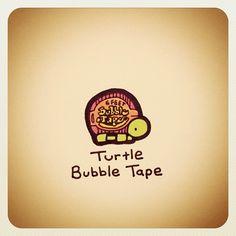 Turtle Bubble Tape - @turtlewayne- #webstagram Sweet Turtles, Cute Turtles, Baby Turtles, Cute Turtle Drawings, Cute Animal Drawings, Cute Drawings, Tiny Turtle, Turtle Love, Pet Turtle