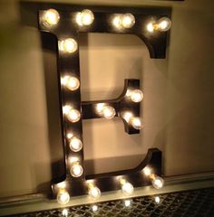 Lighted Letters Signagebar lighting mancave Lit by ChicagoLights, $85.00