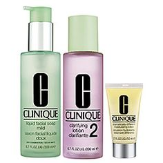 Clinique - 3-Step Skin Care System For Skin Types 1, 2 Dry to Dry Combination  #sephora.  Have been using this for a few months and has to be the best system I have ever used on my skin!