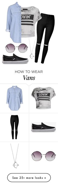 """Lovin'"" by eemaj on Polyvore featuring Religion Clothing, Topshop, Vans and Monki"