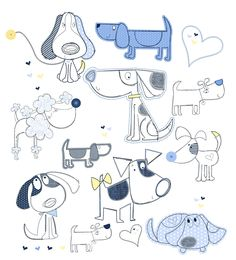 Drawing Doodles Sketches All about surface pattern ,textiles and graphics Doodle Drawings, Easy Drawings, Animal Drawings, Doodle Art, Pencil Drawings, Dog Illustration, Cartoon Dog, Cartoon Ideas, Surface Pattern
