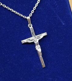 Vintage Anhänger - Silberkreuz Anhänger Jesus Kreuz Silber 925 SK686 - ein…