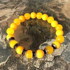 8mm Yellow Jade Wrist Mala Beads Healing Bracelet – AwakenYourKundalini