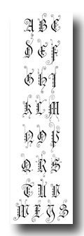 Gothic Lettering - German Gothic - Capitals