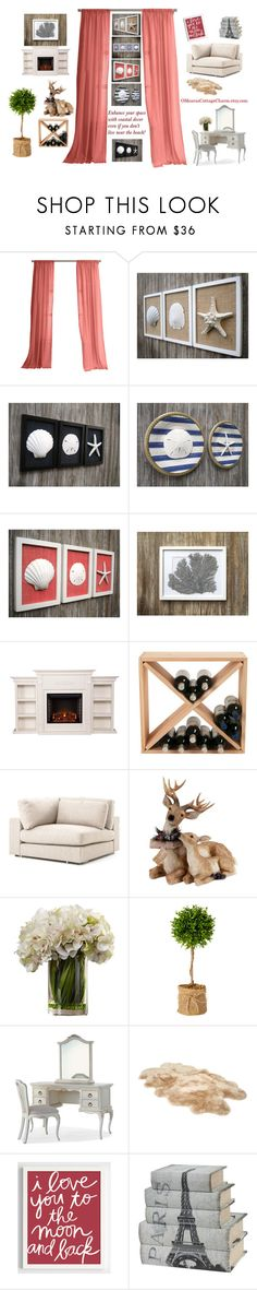 """Wall Art for Coastal Home Decorating"" by cristianaradu ❤ liked on Polyvore featuring interior, interiors, interior design, home, home decor, interior decorating, UGG, Home, wall and etsyfru"