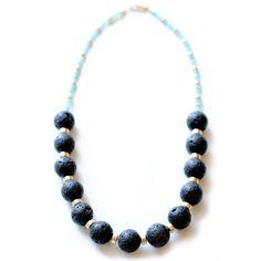 edgy black lava necklace