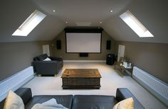 Flawless Home Cinema Attic Of Interior Home Theater Design On Attic Space In Striking Attic Home Theater