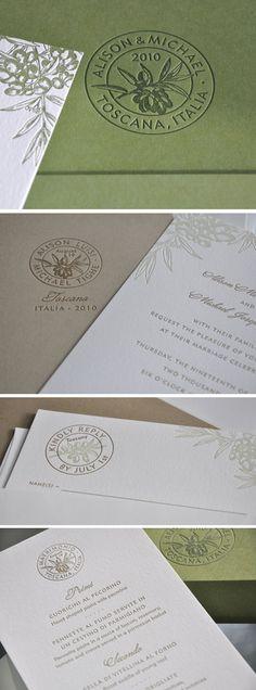 Olive Stamp Wedding Invite                                                                                                                                                                                 Mehr