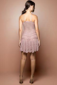 Vestido Crochet Gold Coast Madrepérola - Vanessa M - vanessamontoro