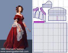 Vintage Dress Patterns, Clothing Patterns, Vintage Dresses, Vintage Outfits, Vintage Fashion, Historical Costume, Historical Clothing, Elizabethan Dress, Barbie Costume