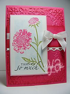 Field Flowers Thank You Bookmark Card