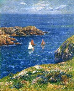 Henry Moret - Ouessant, Calm Seas 1905                                beach here?