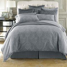 Royal velvet 174 damask duvet cover set amp accessories jcpenney