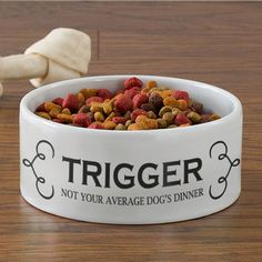 Personalised Dogs Dinner Dog Food Bowl #kitchengiftco