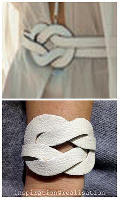 inspiration and realisation: DIY fashion blog: DIY leather illusion knot cuff