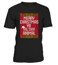 Top Shirt for Merry Christmas Ya Filthy Animal Sweater front  Funny sweater for christmas T-shirt, Best sweater for christmas T-shirt