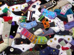 """This clever quilt """"Odd Socks""""  was made by Juliet (originally from Scotland, living in New Zealand). Her blog is the Tartan Kiwi . You ..."""