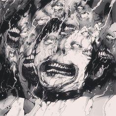 Creepy << I actually find this funny Arte Horror, Horror Art, Creepy Art, Macabre, Belle Photo, Dark Art, Love Art, Art Inspo, Art Drawings